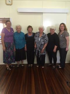 St Peter's ladies:- Kaye Rossmann, Minna Rossmann, Lyn Eggert, Noela Brehmer, Rhyll Rossmann and Theresa Westerman