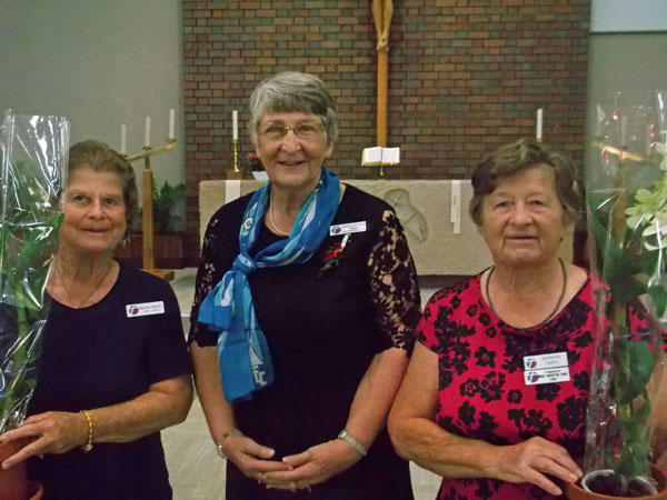 President Shirley Farewelling Marilyn Barbar & Barbara Smith as they leave the executive.