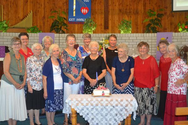 Past and present members of Redeemer Lutheran Women's Fellowship (Absent Mrs. D. Kleidon)
